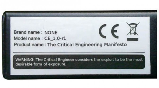 Critical Engineering